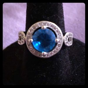 Jewelry - 🌺GIFTED🌺🆕Vintage style CZ and London blue stone